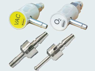 Medical gas terminal plugs